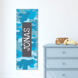 Blue Camouflage Growth Chart