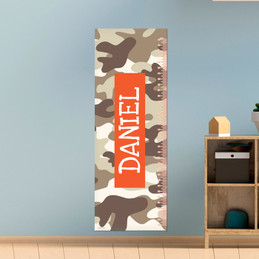 Brown Camouflage Growth Chart