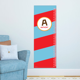 Fun Initials - Red Growth Chart