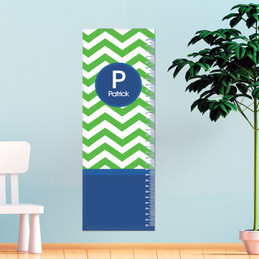 Green And Blue Chevron Growth Chart