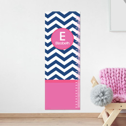 Blue and pink chevron