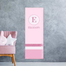 A Shiny Pink Letter Growth Chart