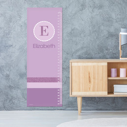 A Shiny Purple Letter Growth Chart