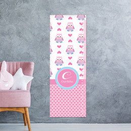 Owl Love Hearts Growth Chart