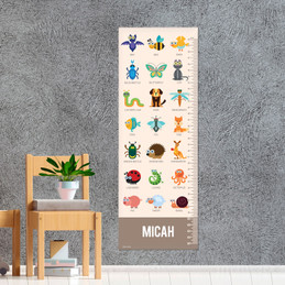 Sweet Animal Chart - Brown Growth Chart