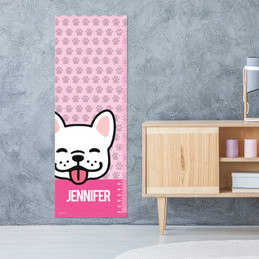 Fun & Cute Dog - Pink Growth Chart