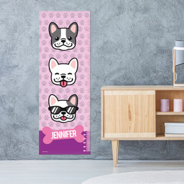 Cool Dogs Pink Growth Chart