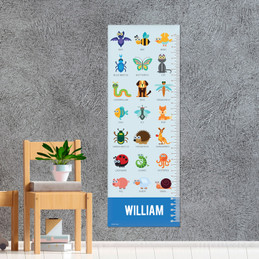 Sweet Animal Chart - Blue Growth Chart