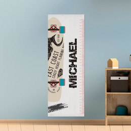 Cool Boy Skateboard Growth Chart