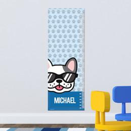 Fun & Cute Dog Blue Growth Chart