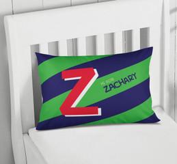 Brilliant Initial - Green Pillowcase Cover
