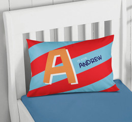 Brilliant Initial - Red Pillowcase Cover