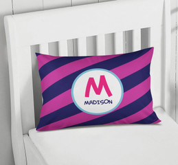 Fun Initials Magenta Pillowcase Cover