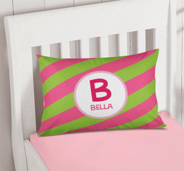 Fun Initials - Pink Pillowcase Cover