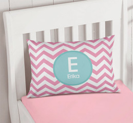 Pink & Aqua Chevron Pillowcase Cover