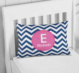 Blue And Pink Chevron Pillowcase Cover