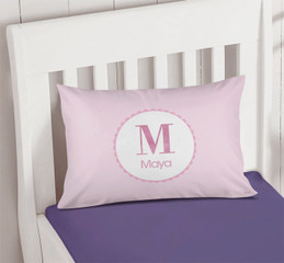 A Shiny Pink Letter Pillowcase Cover