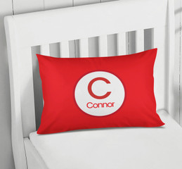 A Linen Red Letter Pillowcase Cover