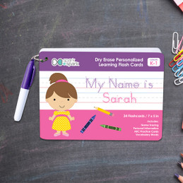 ABC Dry Erase Practice Cards for Girls