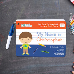 ABC Dry Erase Practice Cards for Boys