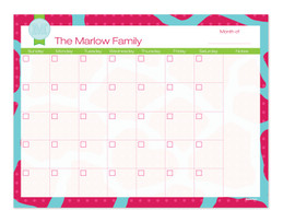 Cute Pink Rocks Monthly Removable Wall Calendar