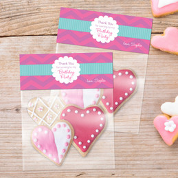 Chevron Pink Birthday Treat Bags