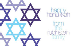Edge With Stars Hanukkah Calling Card