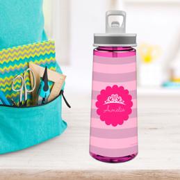 I Am A Pretty Princess Sports Water Bottle