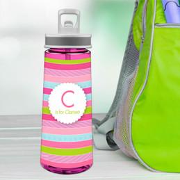 Pastel Stripes Sports Water Bottle