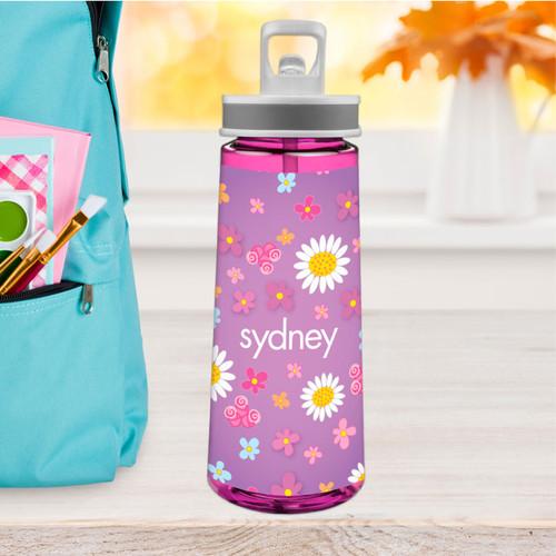 Field Of Flowers Purple Sports Water Bottle