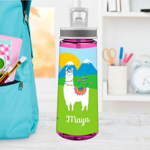 Sweet Llama on the Field Sports Water Bottle