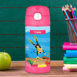 Under The Sea Girl Thermos Bottle