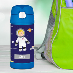 Fly to the Moon Thermos Bottle