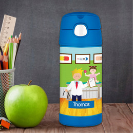 Boy Doctor's Visit Thermos Bottle