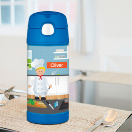 A Boy Chef's Taste Thermos Bottle