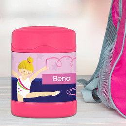 Cute Gymnast Girl Thermos Food Jar