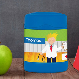 Boy Doctor's Visit Thermos Food Jar
