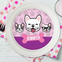 Cool DogsPink Kids Bowl