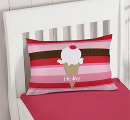 Strawberry Cone Personalized Pillow Cases