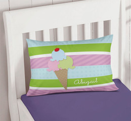 Yummy Ice Cream Toddler Pillow Case