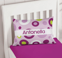 Purple Circles and Circles Children's Pillows