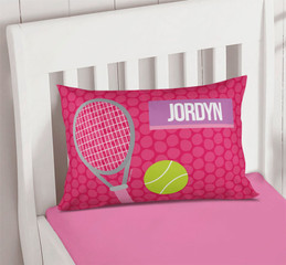 Girl Tennis Fan Custom Printed Pillows