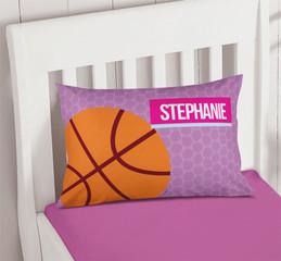 Girl Basketball Fan Custom Pillow Covers