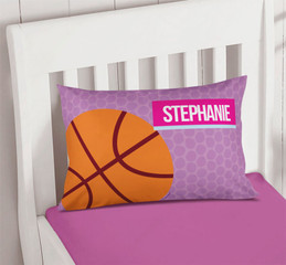 Basketball Fan Girl Circles Pillowcase Cover