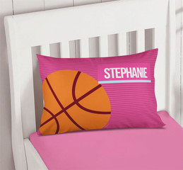Pink Girl Basketball Fan Customize Pillow