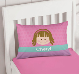 Just Like Me Girl Pink Pillowcase Cover