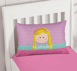 Lavender Just Like Me Girl Customize Pillow