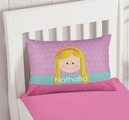 Just Like Me Girl Lavender Pillowcase Cover