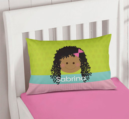 Green Just Like Me Girl Customize Pillow