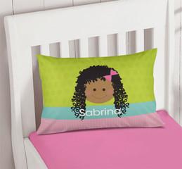 Just Like Me Girl Green Pillowcase Cover